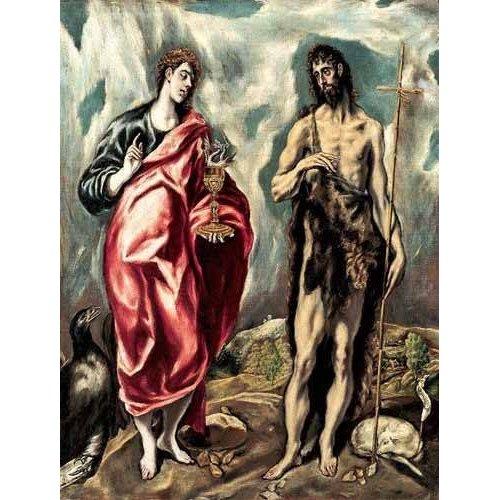 cuadros religiosos - Cuadro -Los Santos Juanes (1605-10)-