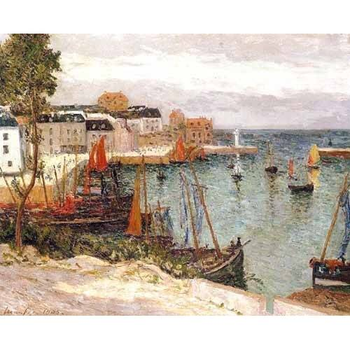 Quadro -El puerto de Sauzon, Belle Isle en Mer-