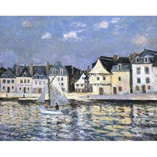 Quadro -El puerto de Saint Goustan, Brittany-