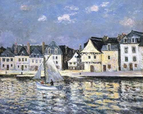 quadros-de-paisagens-marinhas - Quadro -El puerto de Saint Goustan, Brittany- - Maufra, Maxime