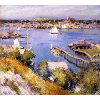- Quadro -Puerto de Gloucester- - Metcalf, Willard