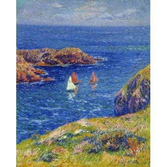quadros de paisagens marinhas - Quadro -Día tranquilo en Quessant- - Moret, Henri