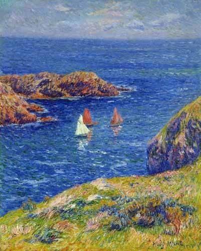quadros-de-paisagens-marinhas - Quadro -Día tranquilo en Quessant- - Moret, Henri