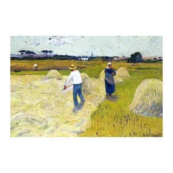 pinturas de paisagens - Quadro -Haymaking-