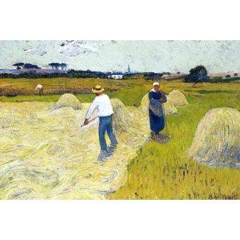 - Quadro -Haymaking- - Moret, Henri