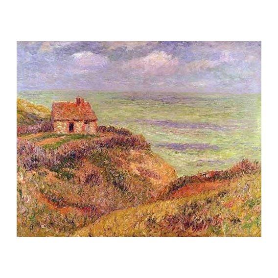 pinturas de paisagens marinhas - Quadro -Acantilados de Moelian, Finistere-