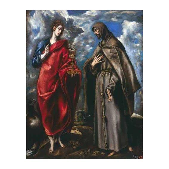 religious paintings - Picture -San Juan Evangelista y San Francisco-