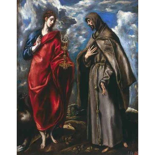 Cuadro -San Juan Evangelista y San Francisco-