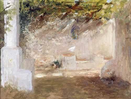 quadros-de-paisagens - Quadro -Emparrado- - Pinazo y Camarlench, Ignacio