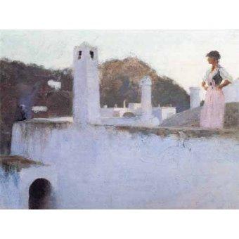 quadros de paisagens - Quadro -Vista de Capri- - Sargent, John Singer