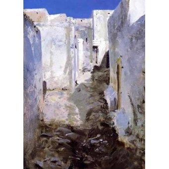 quadros de paisagens - Quadro -Calle de Algiers- - Sargent, John Singer