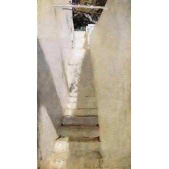 quadros de paisagens - Quadro -Escalinata en Capri- - Sargent, John Singer