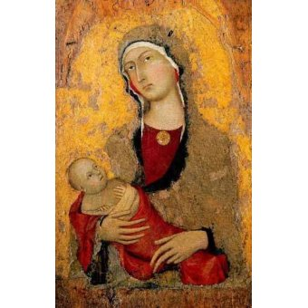 religious paintings - Picture -Madona con Niño- - Martini, Simone