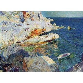 quadros de paisagens marinhas - Quadro -Rocas de Javea- - Sorolla, Joaquin