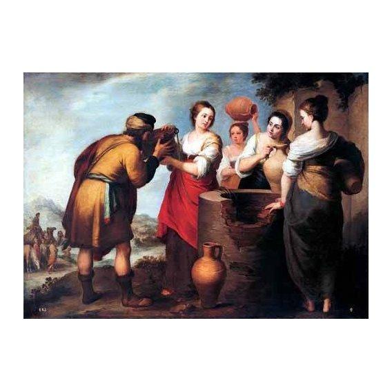 imagens religiosas - Quadro -Rebeca y Eliecer-
