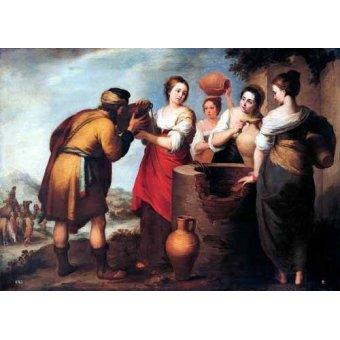 - Quadro -Rebeca y Eliecer- - Murillo, Bartolome Esteban
