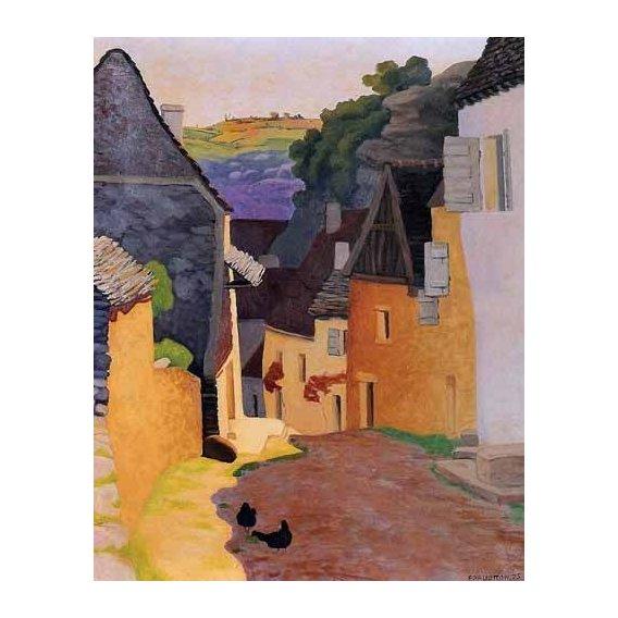 pinturas de paisagens - Quadro -Paisaje en Racamadour-
