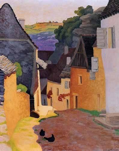 quadros-de-paisagens - Quadro -Paisaje en Racamadour- - Valloton, Felix