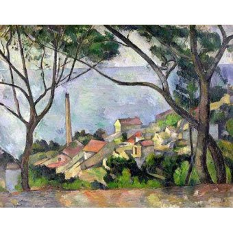 - Quadro -El mar en L´Estaque- - Cezanne, Paul