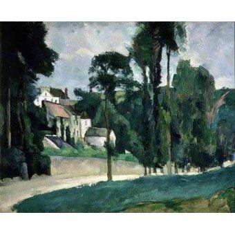 quadros de paisagens - Quadro -La carretera en Pontoise- - Cezanne, Paul