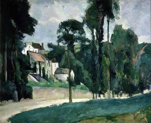 quadros-de-paisagens - Quadro -La carretera en Pontoise- - Cezanne, Paul