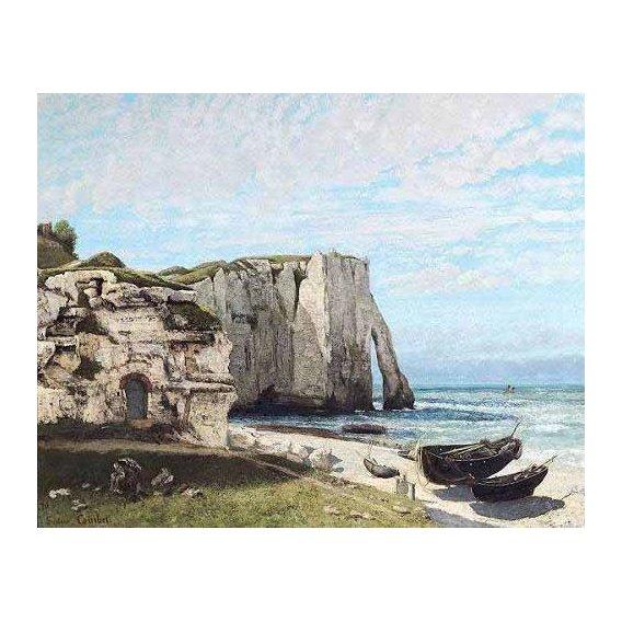 pinturas de paisagens marinhas - Quadro -Acantilados de Etretat despues de la tormenta-