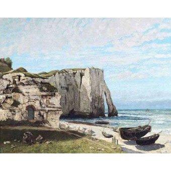 - Quadro -Acantilados de Etretat despues de la tormenta- - Courbet, Gustave