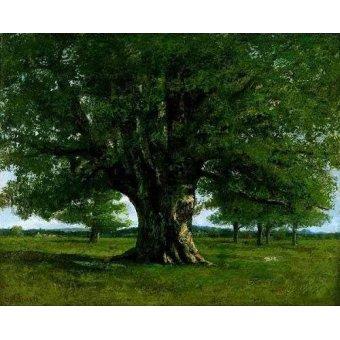 - Quadro -El roble de Flagey, llamado Vercingetorix- - Courbet, Gustave