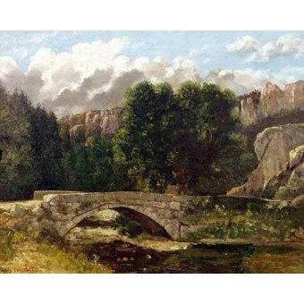 quadros de paisagens - Quadro -El puente de Fleurie, Suiza (1873)- - Courbet, Gustave