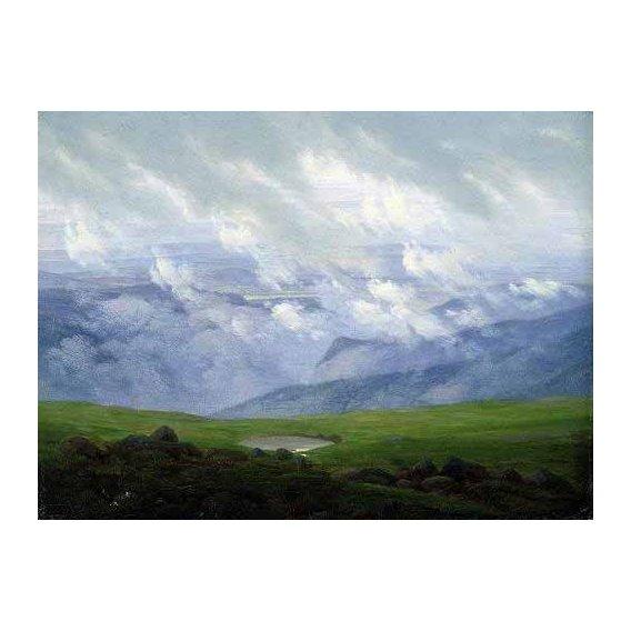 pinturas de paisagens - Quadro -Nubes a la deriva-