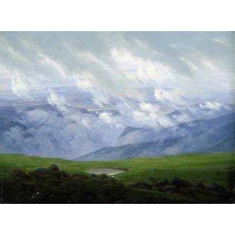 - Quadro -Nubes a la deriva- - Friedrich, Caspar David