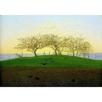- Quadro -Cerros y campos arados cerca de Dresden- - Friedrich, Caspar David