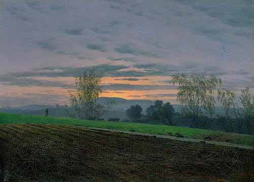 quadros-de-paisagens - Quadro -Campos arados- - Friedrich, Caspar David