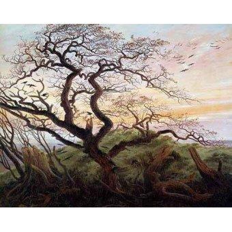 - Quadro -El arbol de los cuervos- - Friedrich, Caspar David