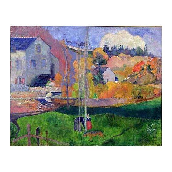 pinturas de paisagens - Quadro -Paisaje de Bretaña: el molino de Mill-