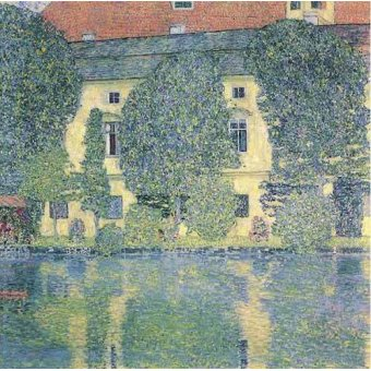 quadros de paisagens - Quadro -The Sholoss Kammer on the Attersee- - Klimt, Gustav