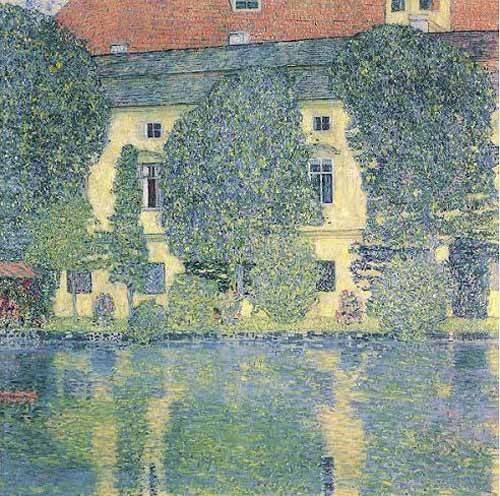 quadros-de-paisagens - Quadro -The Sholoss Kammer on the Attersee- - Klimt, Gustav