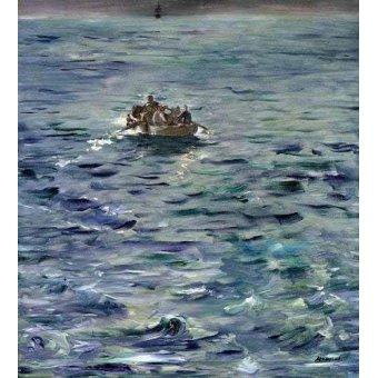 quadros de paisagens marinhas - Quadro -Evasión de Henri de Rochefort- - Manet, Eduard