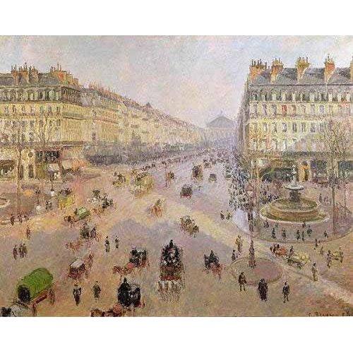Quadro -La Avenida de la Opera, París-
