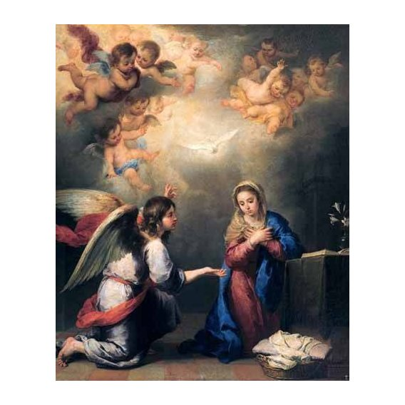 religious paintings - Picture -Anunciación-