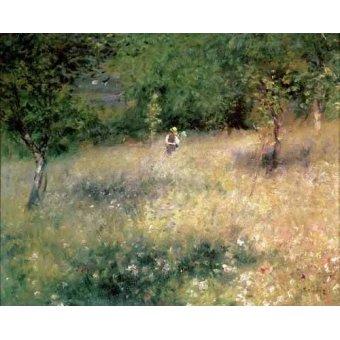 quadros de paisagens - Quadro -Primavera en Chatou- - Renoir, Pierre Auguste