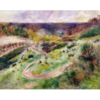 quadros de paisagens - Quadro -Paisaje en Wargemont- - Renoir, Pierre Auguste