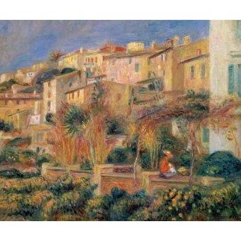 quadros de paisagens - Quadro -Terraza en Cagnes- - Renoir, Pierre Auguste