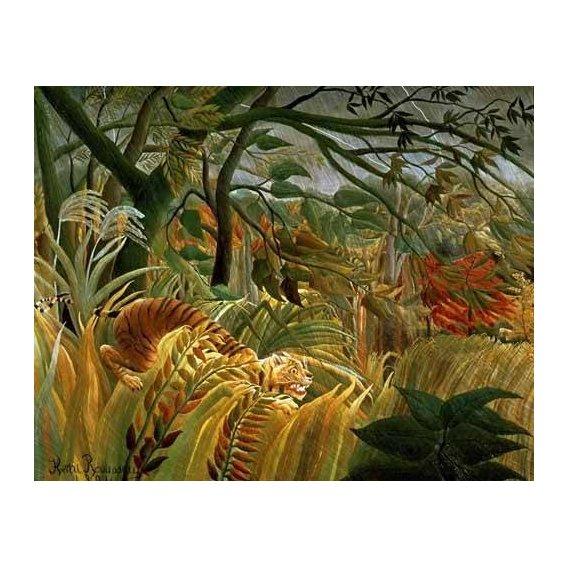 pinturas de paisagens - Quadro -Tigre en una tormenta tropical-