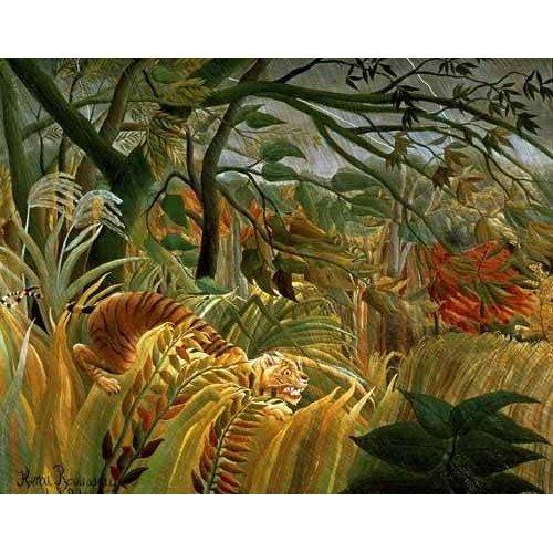 Quadro -Tigre en una tormenta tropical-