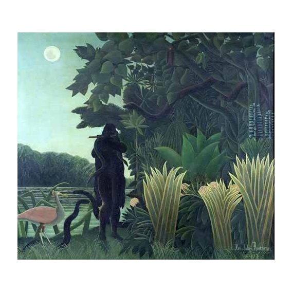 pinturas de paisagens - Quadro -La encantadora de serpientes-