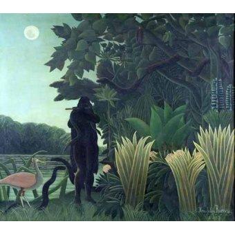 quadros de paisagens - Quadro -La encantadora de serpientes- - Rousseau, Henri