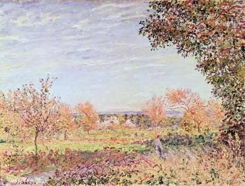 quadros-de-paisagens - Quadro -Mañana de Septiembre- - Sisley, Alfred