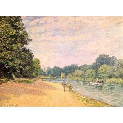 pinturas de paisagens - Quadro -El Támesis y la Iglesia de Hampton-