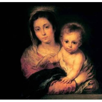 quadros religiosos - Quadro -La Virgen y el Niño- - Murillo, Bartolome Esteban